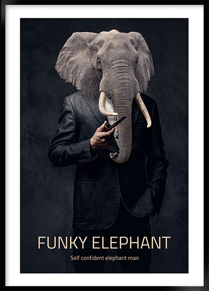 Poster - Funky elephant