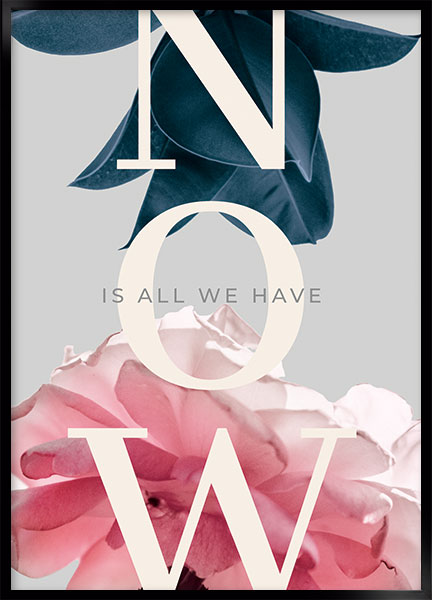 Poster - All we have is now