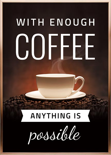 Poster - A cup of coffee