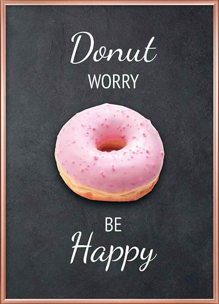 Poster - Donut worry be happy