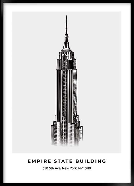 Poster - Empire state building