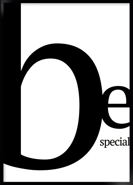 Poster - Be special