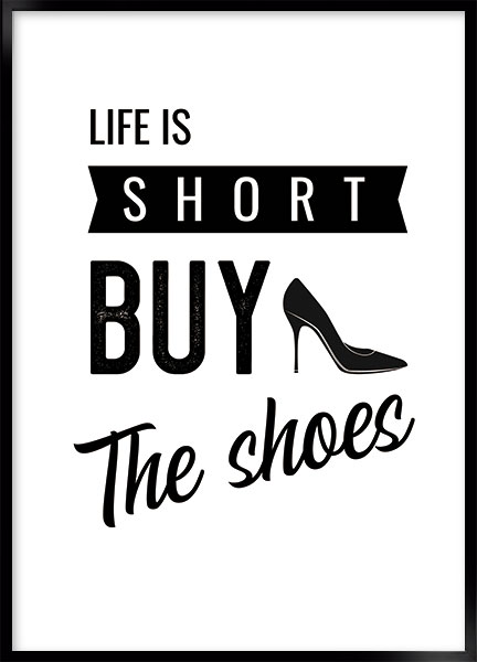 Poster - Buy the shoes