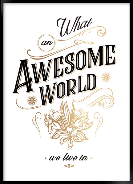 Poster - Awesome world