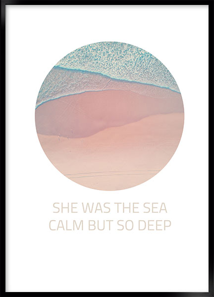 Poster - She was the sea