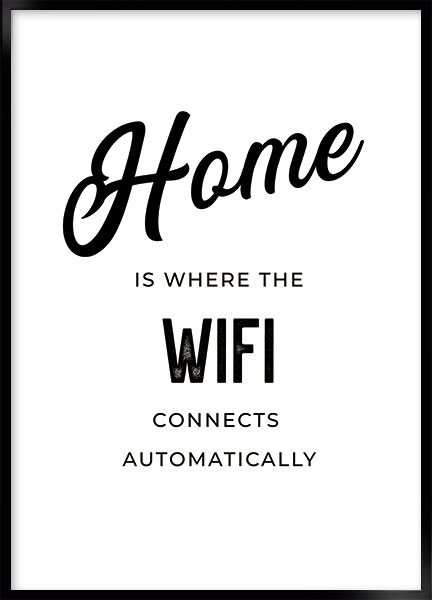 Poster - Wifi home