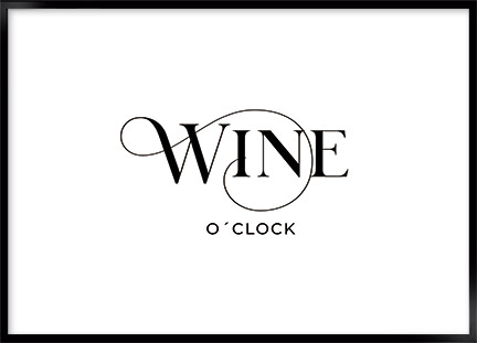 Poster - Wine o clock