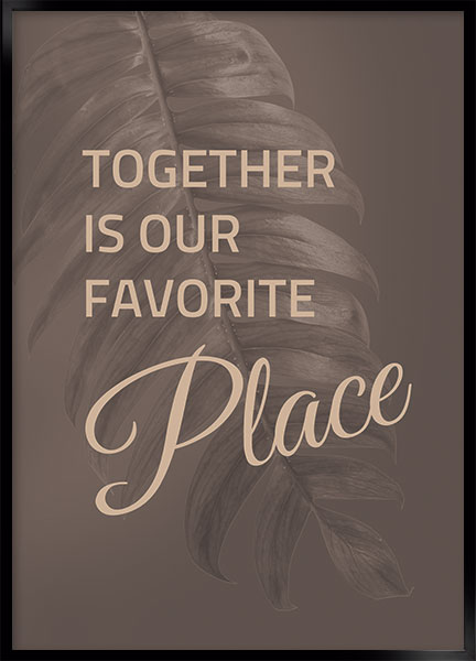 Poster - Favorite place